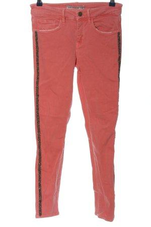 Zara Basic Röhrenhose rot Casual-Look