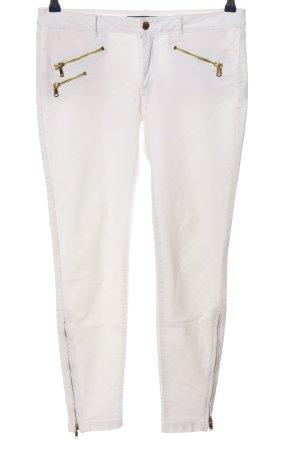 Zara Basic Pantalón de tubo blanco look casual
