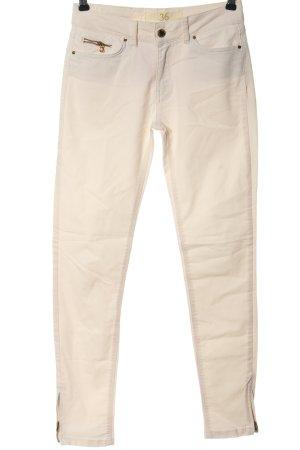 Zara Basic Röhrenhose creme Elegant