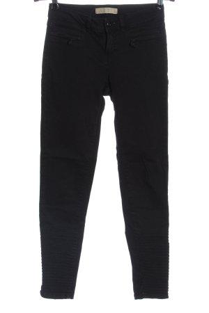 Zara Basic Röhrenjeans schwarz Streifenmuster Casual-Look