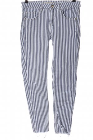Zara Basic Tube Jeans blue-white striped pattern casual look