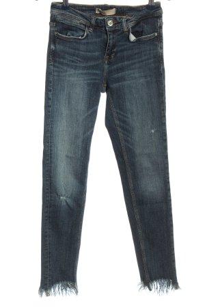 Zara Basic Jeans cigarette bleu style décontracté