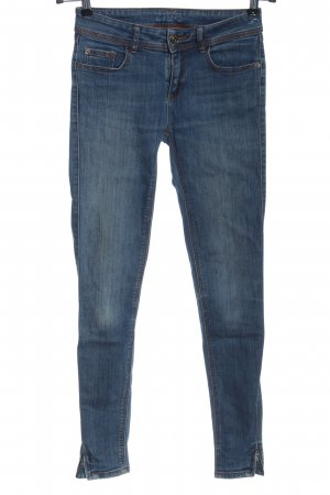 Zara Basic Röhrenjeans blau Casual-Look