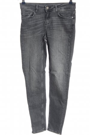 Zara Basic Jeans cigarette gris clair style décontracté