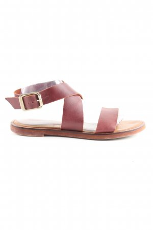 Zara Basic Roman Sandals brown casual look
