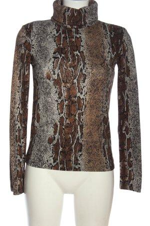 Zara Basic Rollkragenpullover Allover-Druck Casual-Look