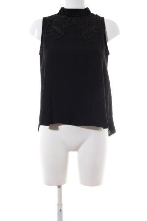 Zara Basic Camisa de cuello de tortuga negro elegante