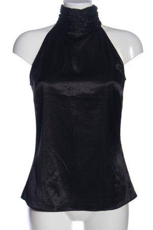 Zara Basic Top de cuello de cisne negro look casual