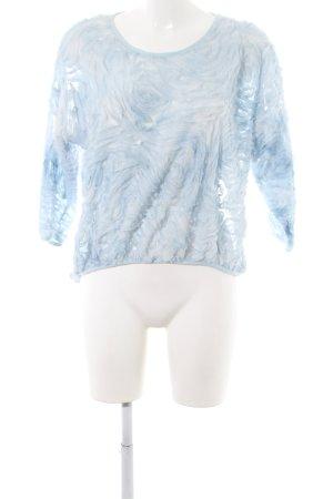 Zara Basic Rüschen-Bluse blau extravaganter Stil