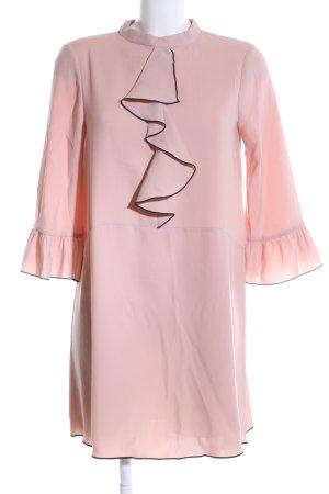 Zara Basic Rüschen-Bluse pink Elegant