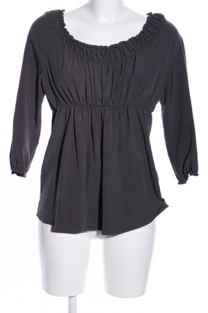 Zara Basic Ruffled Blouse black casual look