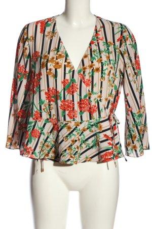 Zara Basic Rüschen-Bluse Blumenmuster Casual-Look