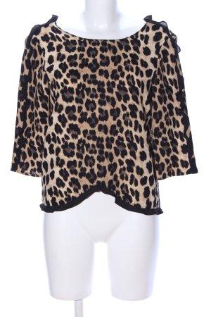 Zara Basic Blusa con volantes estampado de animales look casual