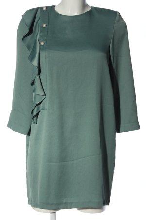 Zara Basic Rüschen-Bluse grün Elegant