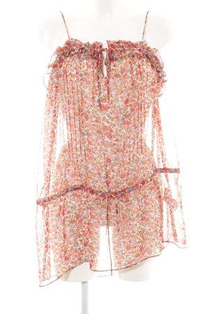 Zara Basic Frill Top allover print casual look