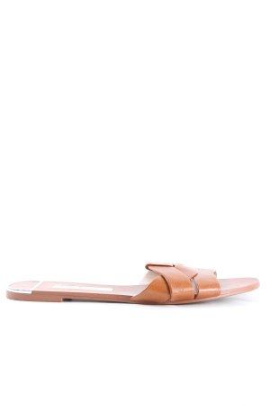 Zara Basic Klompen bruin casual uitstraling