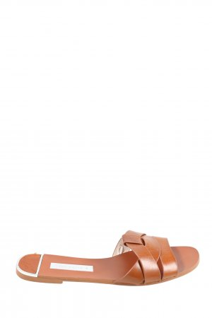 Zara Basic Outdoor-Sandalen braun Casual-Look