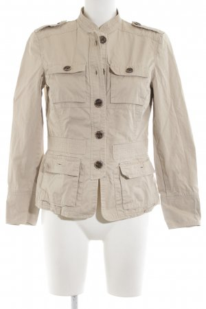 Zara Basic Safarijacke wollweiß Casual-Look