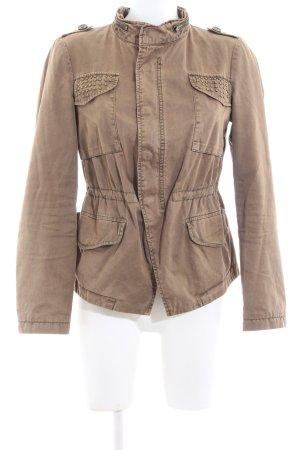Zara Basic Safarijacke braun Casual-Look
