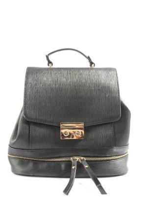 Zara Basic Tornister czarny-złoto W stylu casual