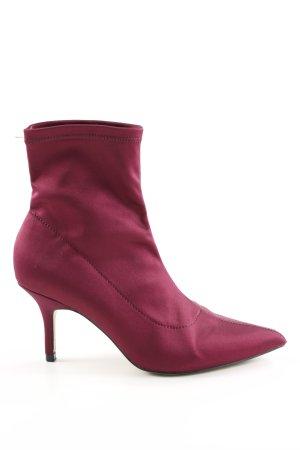 Zara Basic Bottines à enfiler rouge style décontracté
