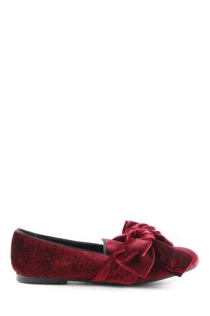 Zara Basic Schlüpfschuhe rot Elegant