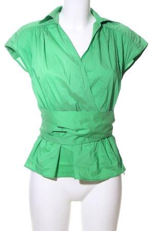 Zara Basic Blusa caída verde look casual