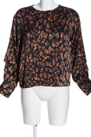 Zara Basic Schlupf-Bluse abstraktes Muster Casual-Look