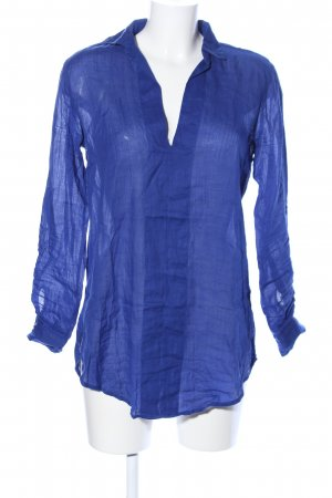 Zara Basic Blouse à enfiler bleu style d'affaires