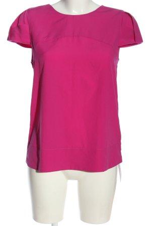 Zara Basic Schlupf-Bluse pink Casual-Look