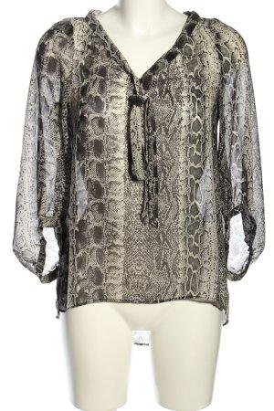 Zara Basic Schlupf-Bluse Allover-Druck Elegant