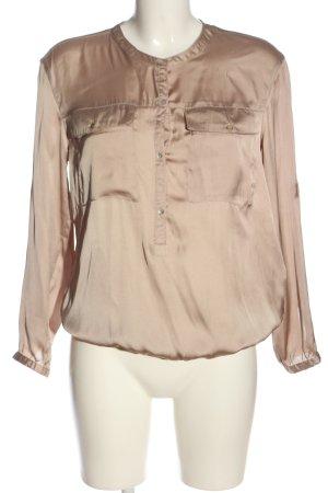 Zara Basic Schlupf-Bluse nude Casual-Look