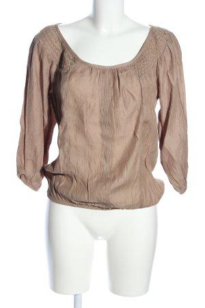 Zara Basic Blusa caída marrón look casual