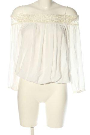 Zara Basic Schlupf-Bluse wollweiß Casual-Look