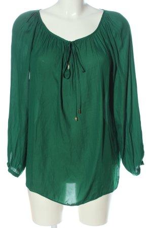 Zara Basic Schlupf-Bluse grün Casual-Look