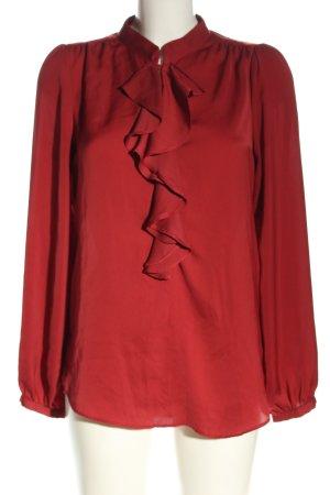 Zara Basic Schlupf-Bluse rot Casual-Look