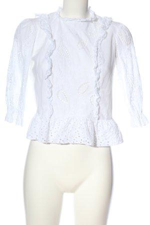 Zara Basic Schlupf-Bluse weiß Elegant