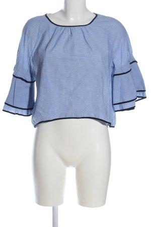 Zara Basic Schlupf-Bluse blau-weiß Streifenmuster Casual-Look