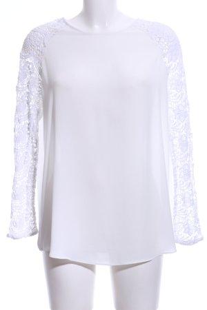 Zara Basic Schlupf-Bluse weiß Casual-Look