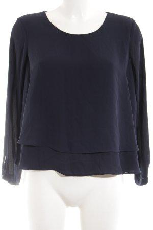 Zara Basic Schlupf-Bluse blau Business-Look