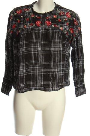Zara Basic Schlupf-Bluse Blumenmuster Casual-Look