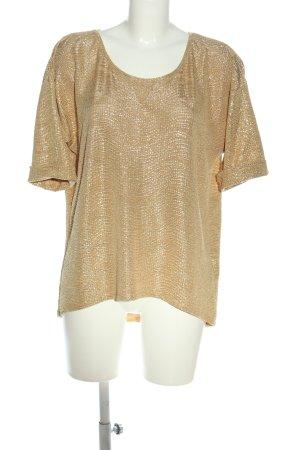 Zara Basic Schlupf-Bluse blassgelb Glanz-Optik