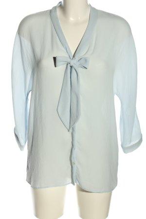 Zara Basic Schluppen-Bluse blau Elegant