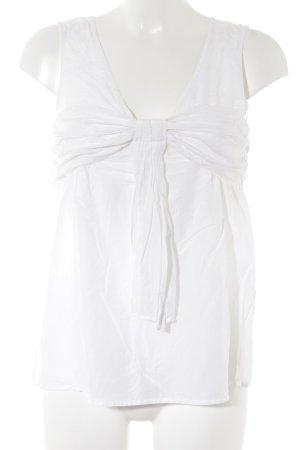 Zara Basic Schluppen-Bluse creme Business-Look