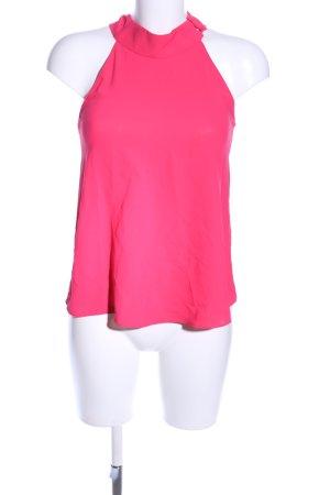 Zara Basic Blusa collo a cravatta rosa stile casual