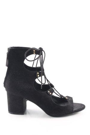 Zara Basic Schnür-Pumps schwarz Elegant