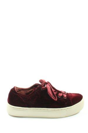 Zara Basic Schnürsneaker rot schlichter Stil