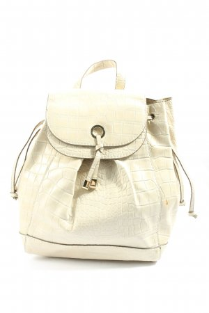 Zara Basic Mochila escolar crema estampado de animales look casual