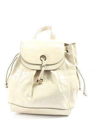 Zara Basic School Backpack cream animal pattern casual look