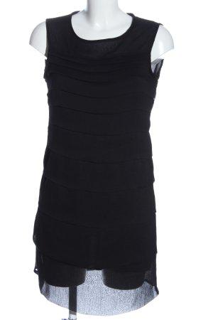 Zara Basic Vestido de chifón negro look casual